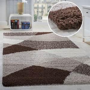 Shaggy Hochflor Teppich : shaggy geometrisch gemustert braun hochflor teppiche ~ Markanthonyermac.com Haus und Dekorationen