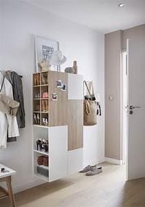 10 idees de rangements a chaussures pour votre hall d for Porte d entrée pvc avec meuble salle de bain gain de place leroy merlin