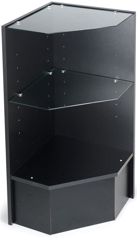 Corner Display Unit | Black Melamine Construction