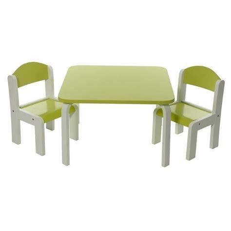 chaise table bébé ensemble table et chaises enfant vert en bois fabio momo