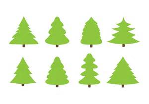 free flat christmas trees vector download free vector art stock graphics images