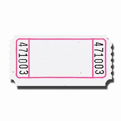 Ticket Raffle Clipart Blank Clip Carnival Template