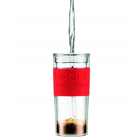 Designed for you to enjoy a single cup of french press coffee, you can guarantee plunger perfection every time and an excellent cup of joe. Bodum Travel Press Set Coffee Maker Mug With Extra Lid Double Wall Plastic 0.35 Litres - Red ...