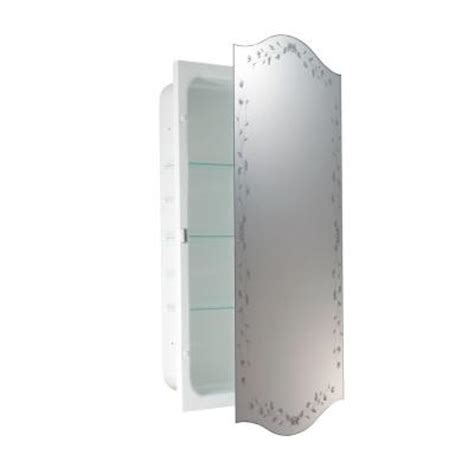 home depot recessed medicine cabinets with mirrors deco mirror 16 in x 28 in recessed venetian eclipse