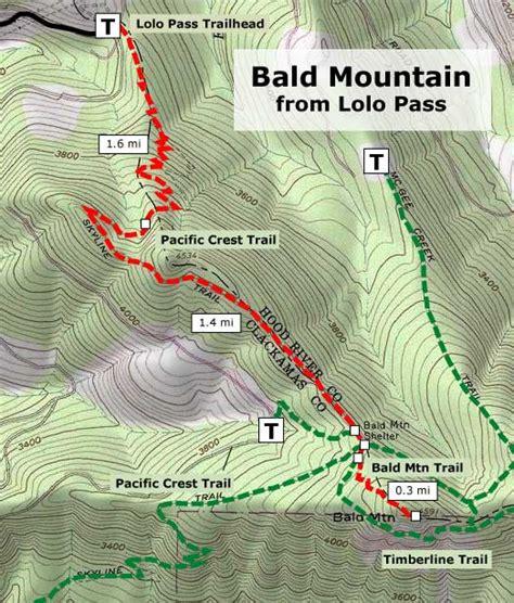 lolo pass bald mountain trail map hike christmas tree oregon permit lewis clark maps portland go trees place trails hiking