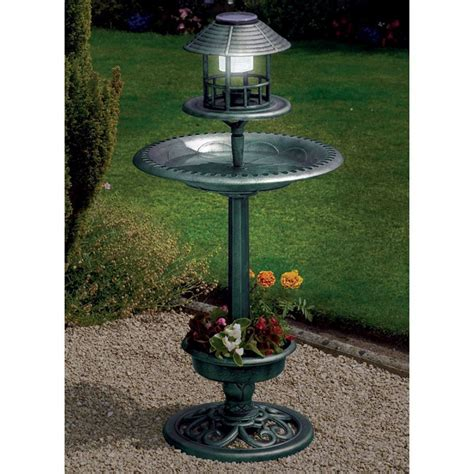 buy solar bird bath online at cherry lane