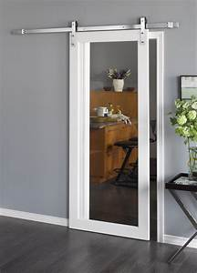introducing barn doors a stylish but practical addition With clear glass barn door