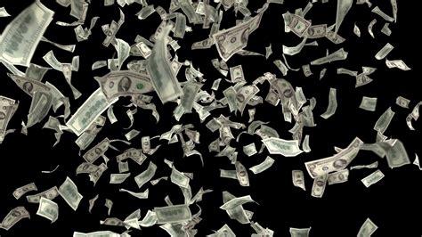 Money Falling Dollars Financial Win Us Usa American