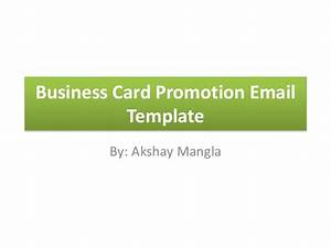 business card promotion email template With business promotion email template