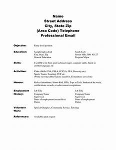 Doc Sample Resume High School No Work Experience
