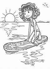 Coloring Pages Surfer Surf Surfing Surfboard Waiting Getdrawings Kite Popular sketch template
