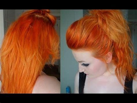 dying  hair orange youtube