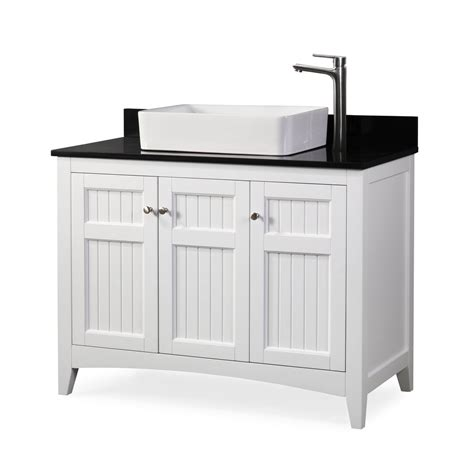 """Eviva london 48 x 18 transitional gray bathroom vanity with white carrara marble and double. 42"""" Causal Style vessel sink Thomasville Bathroom Sink ..."""
