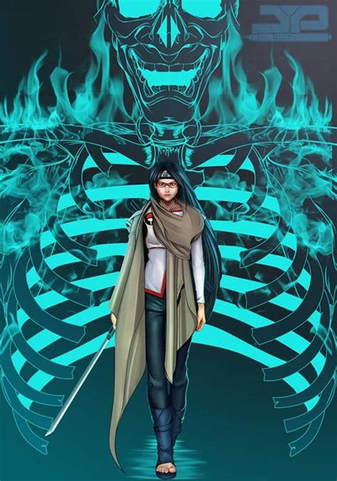 susanoo perfect forms  sarada uchiha anime