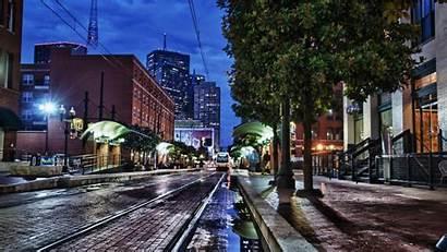 Dallas Texas Usa Wallpapers Street Night Desktop