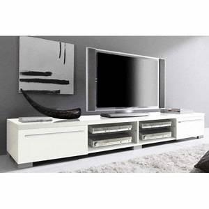 Meuble tv design blanc laque cavalli 210 cm achat for Meuble tv design blanc laque cavalli