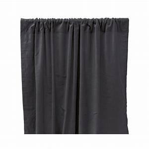Rideau Velours Vert : rideau occultant en velours de coton gris anthracite liv ~ Teatrodelosmanantiales.com Idées de Décoration