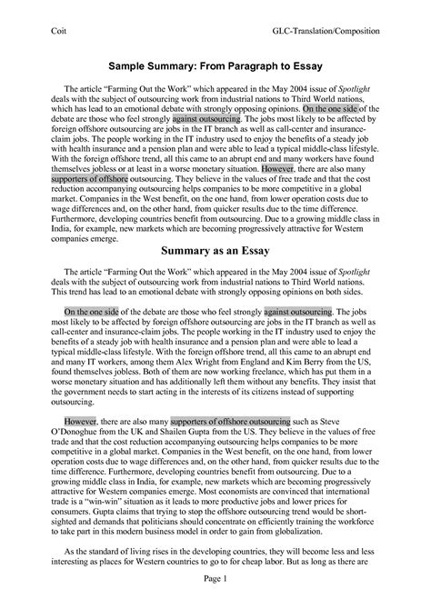 How To Write A Summary Of An Essay by 10 Best Images Of Paragraph Format Notes Sle Statement Interest Sle Essay Summary