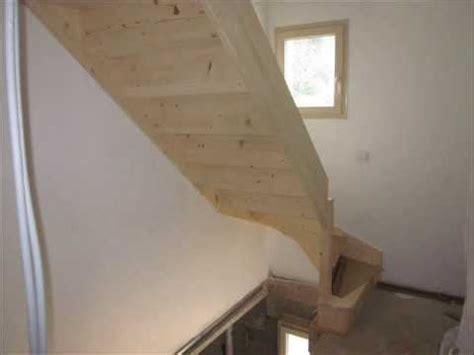 pose escalier quart tournant pose escalier bois 1 quart tournant et cloison ba 13