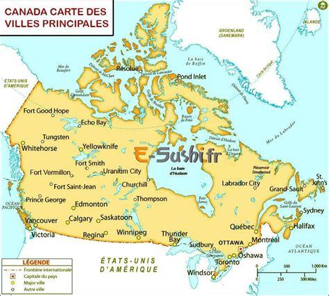 Carte Du Canada Avec Villes by Canada Carte Des Villes Tourisme