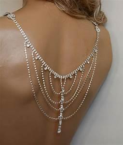 wedding rhinestone jewelry wedding dress shoulder by adbrdal With wedding dress necklace