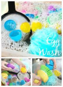 Easter Egg Wash Water Activity For Kids