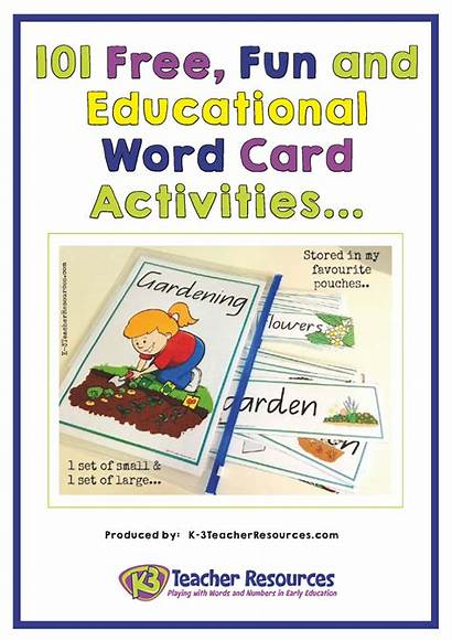 Word Vocabulary Words Card Activities Resources Fun