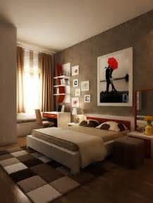 Brown White Bedroom Ideas by Red Brown White Bedroom Layout Interior Design Ideas