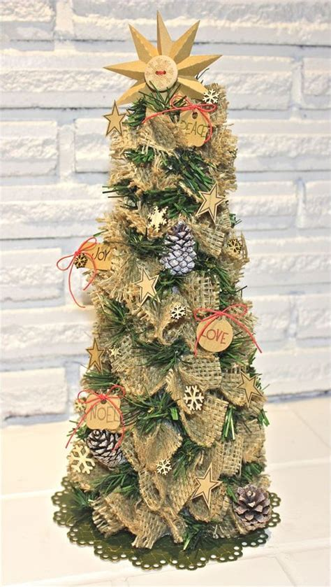 burlap christmas tree fun family crafts