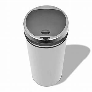 Poubelle Automatique Pas Cher : acheter poubelle automatique de cuisine 50l panier acier ~ Dailycaller-alerts.com Idées de Décoration