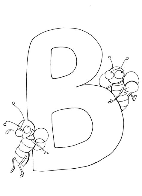 Coloring Letter B by Letter B Coloring Pages To And Print For Free