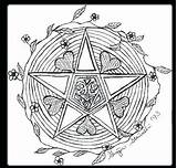 Wiccan Coloring Pages Wicca Pagan Pentagram Adults Drawing Samhain Colouring Goddess Printable Drawings Symbols Pentacle Sketch Sheets Getdrawings Getcolorings Books sketch template