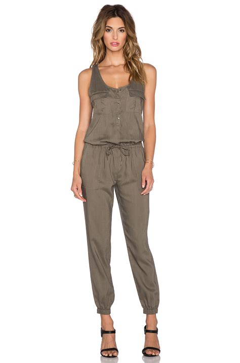 joie jumpsuit joie rosura jumpsuit in fatigue revolve