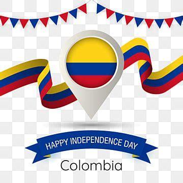 colombia el  de la independencia  estilizada ilustracion country flag pin colombia feliz