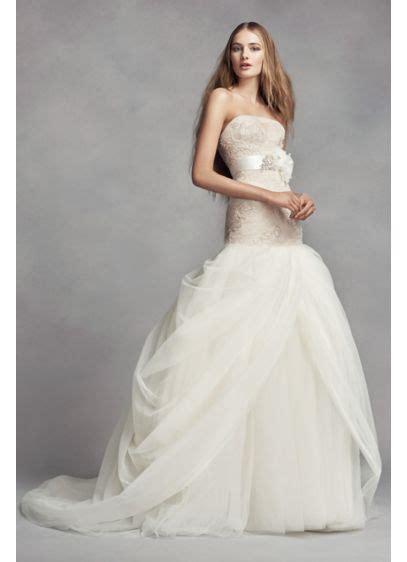 white  vera wang petite tulle wedding dress davids bridal
