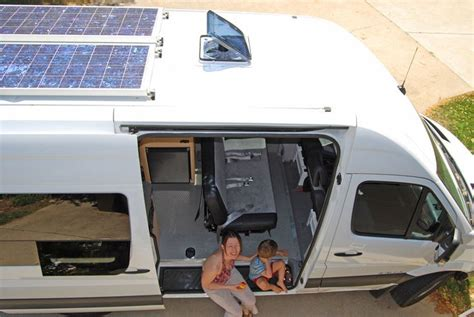 This Sprinter Custom Camper Features Solar Panels On Top