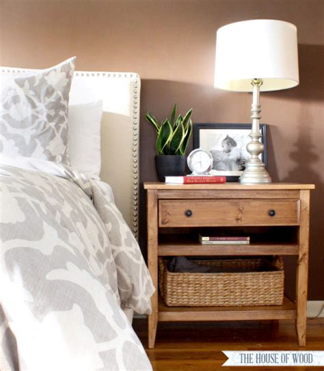 Bedroom End Tables Plans diy bedside table with drawer and shelf free plans