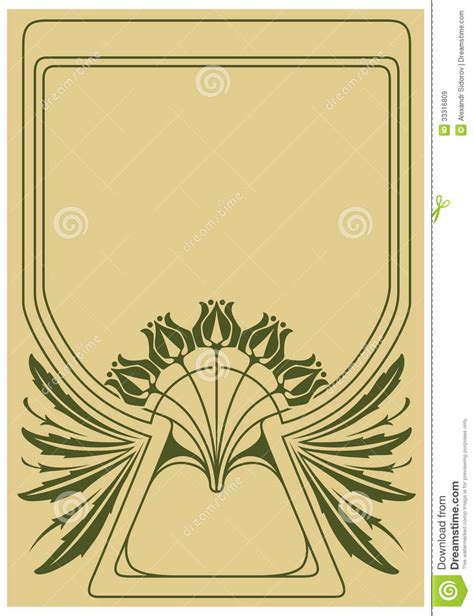 art nouveau style ls abstract framework stock vector image of snail art