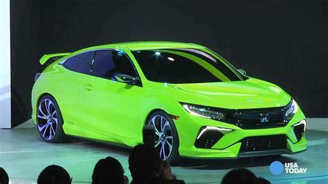 honda unveils lime green honda civic  ny auto show