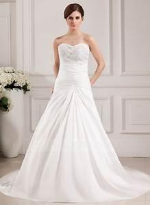 a line princess sweetheart chapel train taffeta wedding With robe mariée morphologie