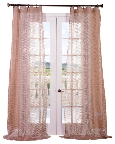 zara taupe patterned sheer curtain contemporary