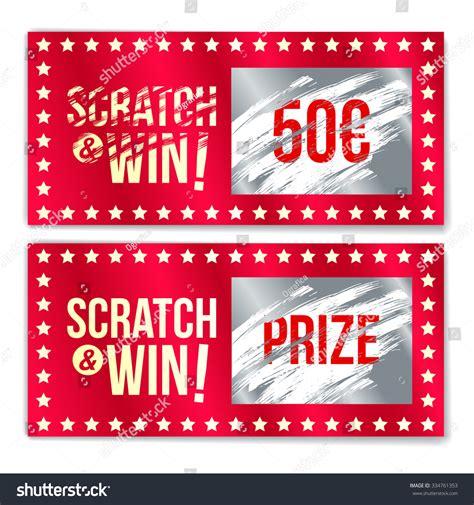 scratch card game win effect scratch stock vector