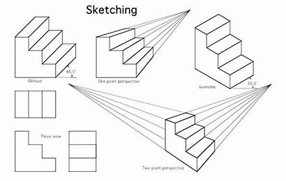 Isometric Drawing Examples Exercises Drawings Sketch Mechanical