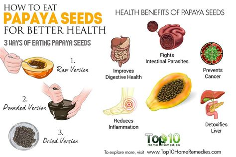 how to eat a papaya how to eat papaya seeds for better health top 10 home remedies
