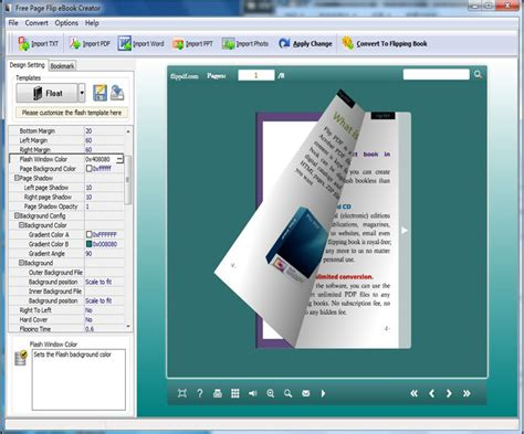 Creator Software by Free Page Flip Ebook Creator 1 0 Screenshot