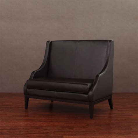 leather settee bench modern loveseat sofa living room dining bench settee