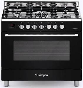 Gasherd 90 Cm Breit : bompani bo 687 ma n black gas elektro standherd 90cm range cooker in diva line design gasherd ~ Markanthonyermac.com Haus und Dekorationen