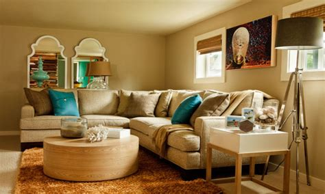 Home Decorating Ideas Living Room Curtains, Brown And