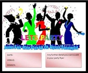 party flyer template excel  formats