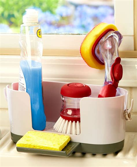 kitchen sink caddy organizer  ring holder holds